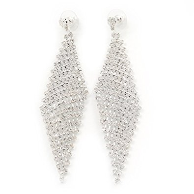 swarovski crystal long earrings